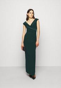 Lauren Ralph Lauren - MID WEIGHT LONG GOWN COMBO - Occasion wear - deep pine - 1