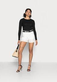 Desigual - YESTERDAY - Denim shorts - white - 1