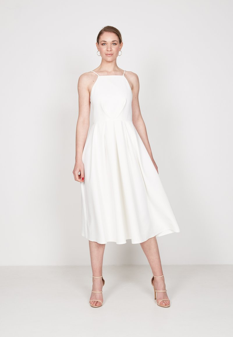 True Violet - STRAPPY SKATER - Day dress - off white