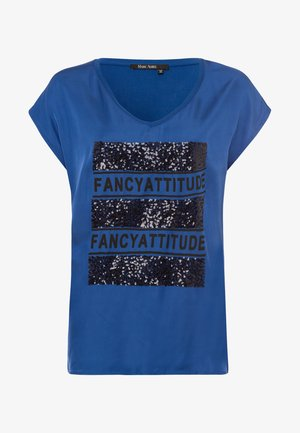 Print T-shirt - blue varied