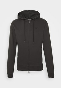 Emporio Armani - ZIPPED HOODIE  - Sweatjacke - dark grey - 4
