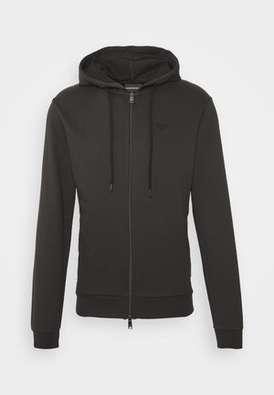 ZIPPED HOODIE  - veste en sweat zippée - dark grey