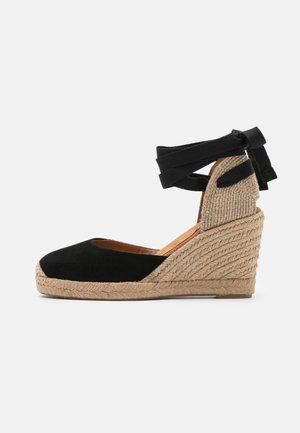 CARNOT - Korkeakorkoiset sandaalit - black