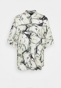 Monki - LUCA BLOUSE - Button-down blouse - marblestone - 3