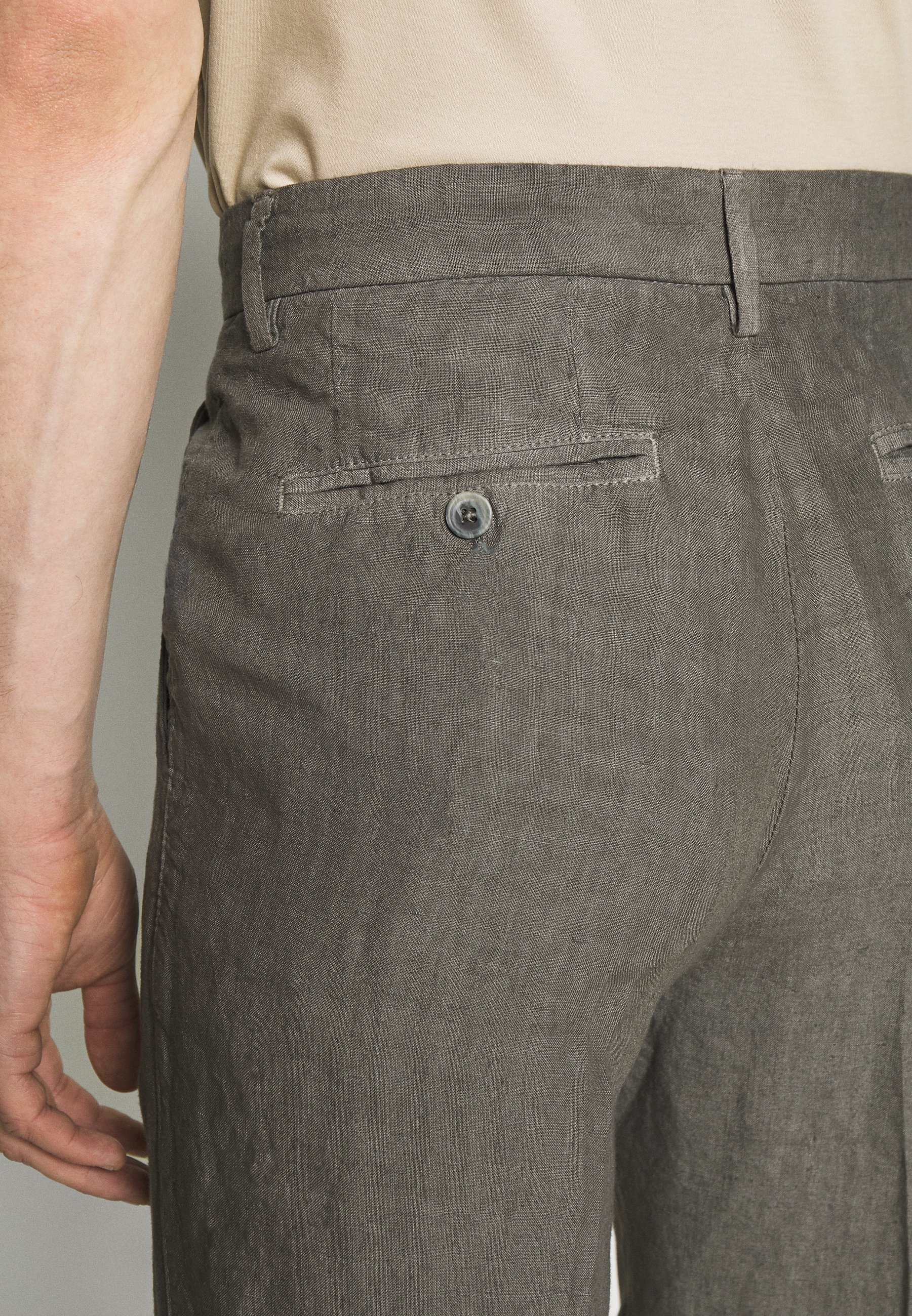 120% Lino TAILORED TROUSERS - Bukse - anthracite
