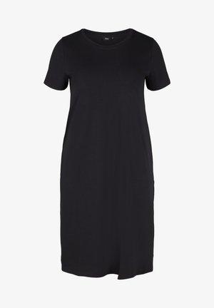 MIT SCHLITZ - Jersey dress - black