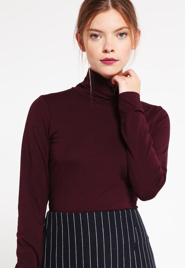 TANNER   - T-shirt à manches longues - dark ruby