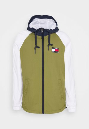 COLORBLOCK ZIPTHROUGH JACKET - Summer jacket - olive
