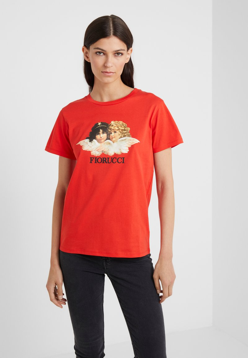 Fiorucci - VINTAGE ANGELS TEE  - Print T-shirt - blood orange