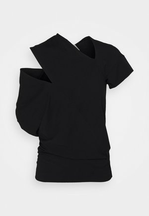 TIMANS - Print T-shirt - black