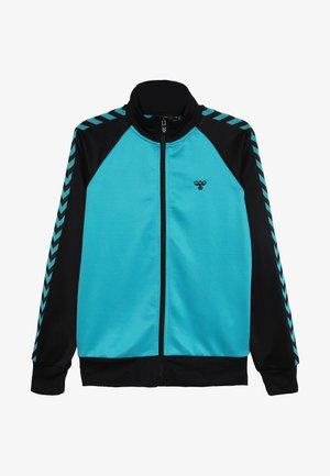 HMLKICK - Training jacket - black/lake blue