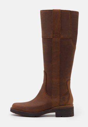 GRACEYN TALL SIDE ZIP WP - Vysoká obuv - rust
