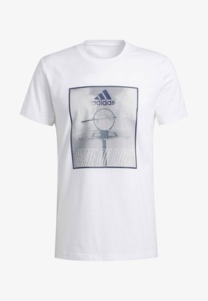 GAME ON LOCK T-SHIRT - Print T-shirt - white