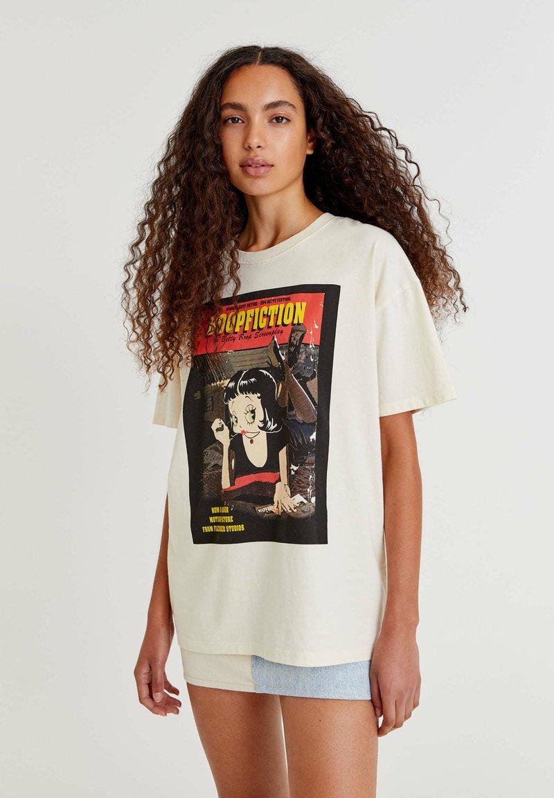 PULL&BEAR - BETTY BOOP BOOPFICTION - T-shirt med print - white