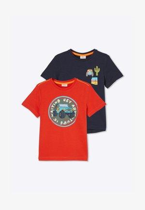 2 pack - Print T-shirt - red/dark blue