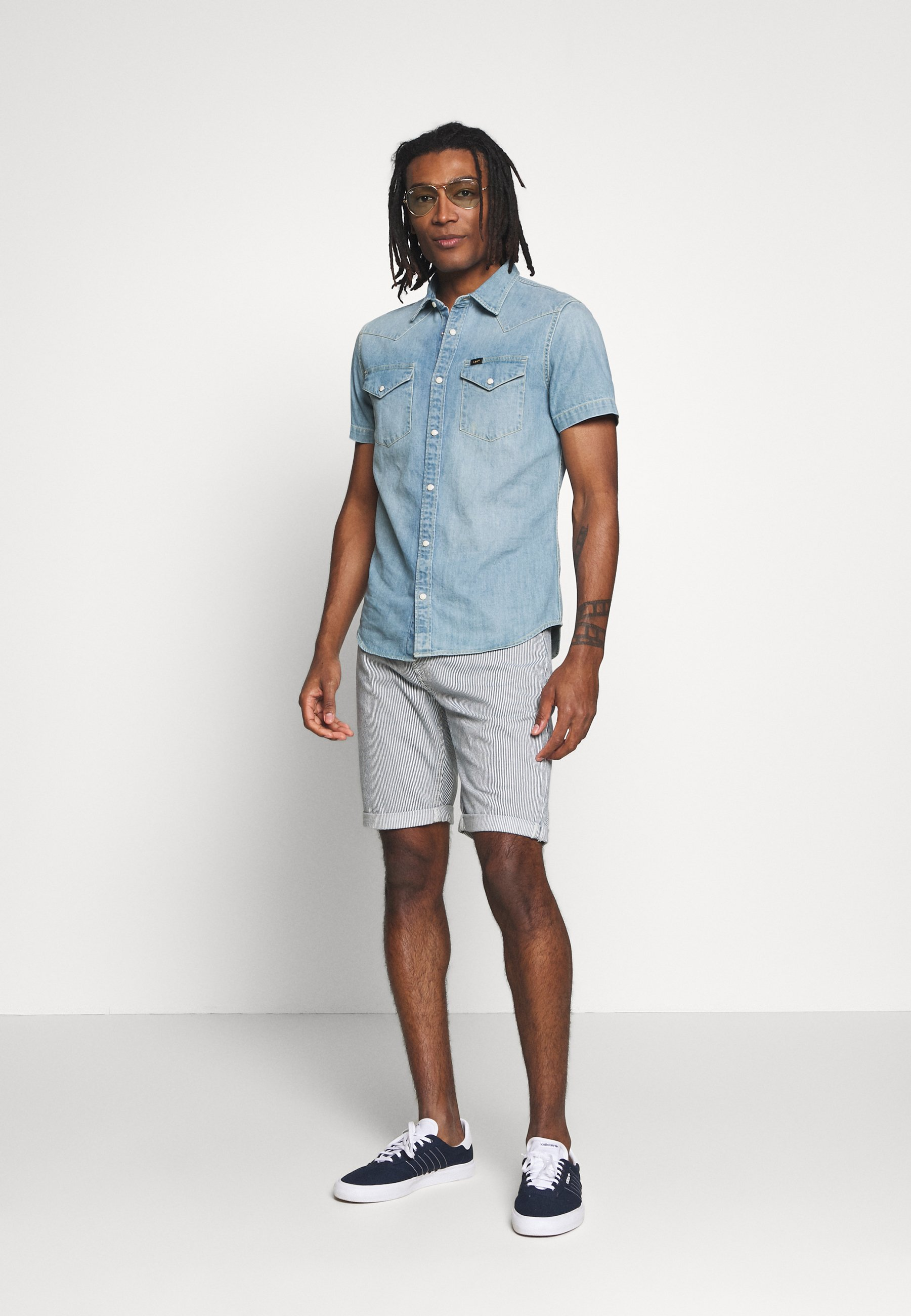 Lee WESTERN - Chemise - frost blue