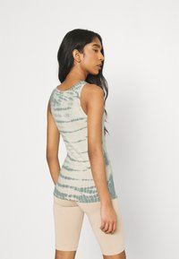 Weekday - STELLA PRINTED TANK - Toppe - dusty green/off-white - 2