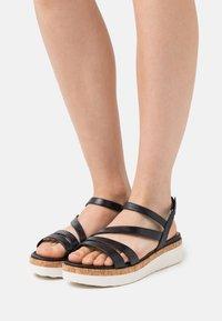 Tamaris GreenStep - Platform sandals - navy - 0