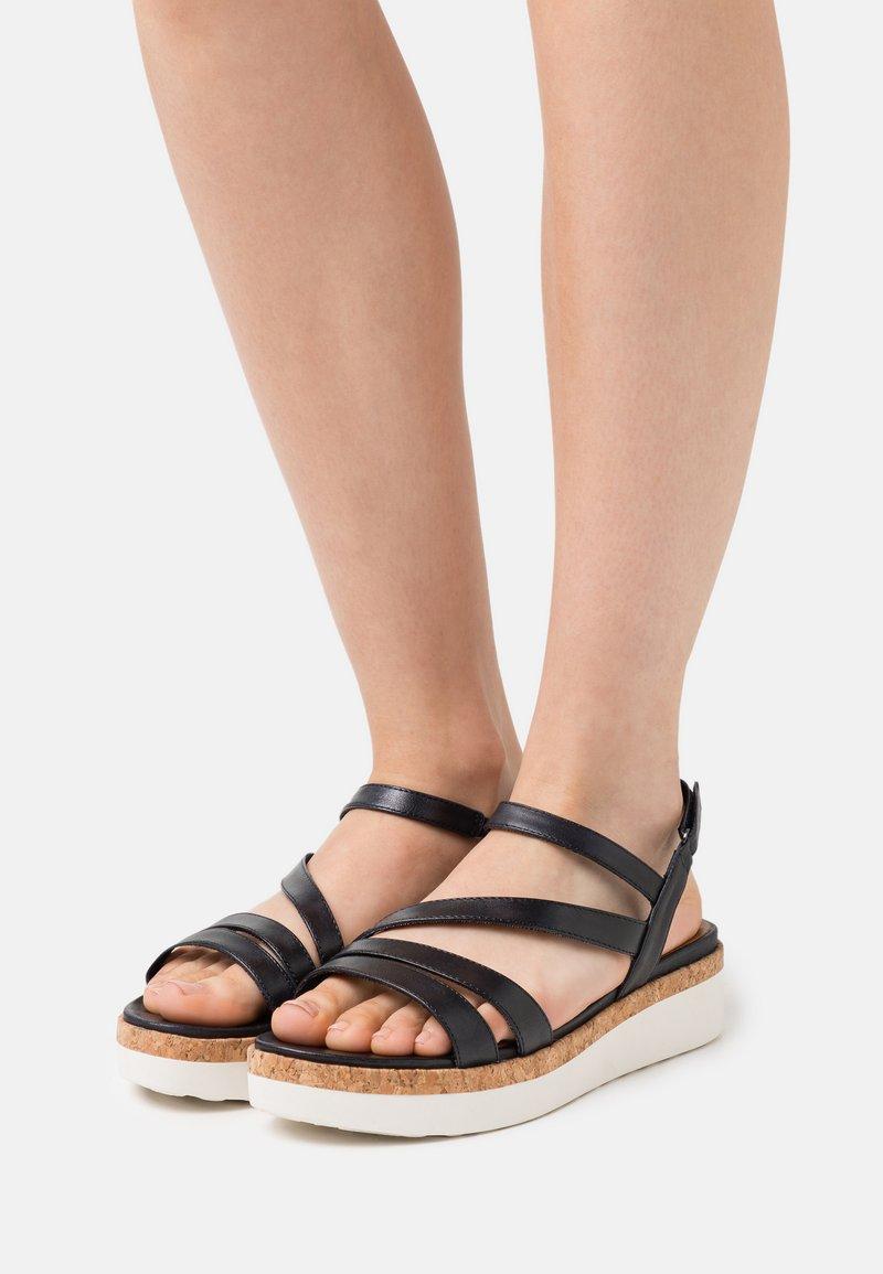 Tamaris GreenStep - Platform sandals - navy