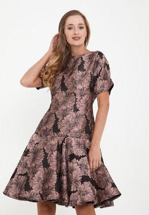 SACASA - Cocktail dress / Party dress - dunkelrosa, schwarz