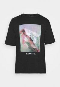 JPRBLACALLIE TEE CREW NECK - Print T-shirt - black