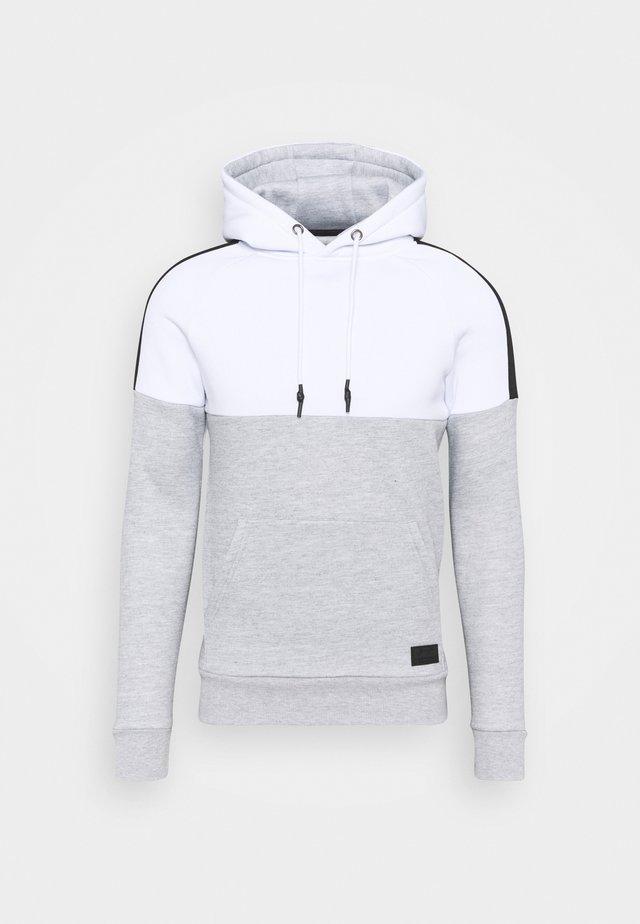 SIGMUND - Sudadera - optic white/light grey marl/jet black