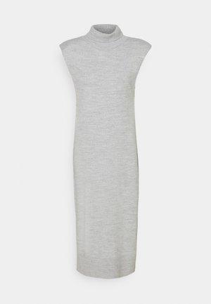 PADDED HIGH NECK MIDI DRESS - Neulemekko - grey melange