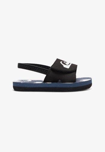 MOLOKAI LAYBACK - Pool slides - black/blue/white