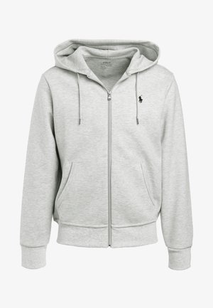 DOUBLE TECH HOOD - Sweatjacke - heather