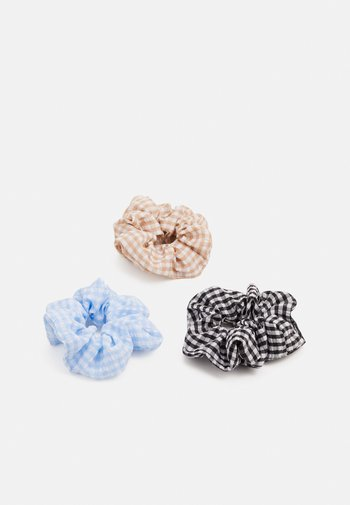 PCANYA NORMAL SCRUNCHIE 3 PACK - Hair styling accessory - bleached aqua