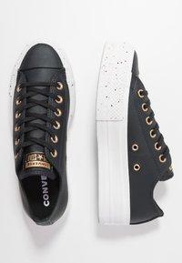 Converse - CHUCK TAYLOR ALL STAR LIFT SPECKLED - Matalavartiset tennarit - black/rose maroon/white - 3