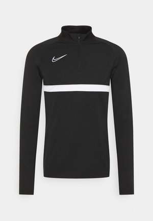 Fleece jumper - black/white