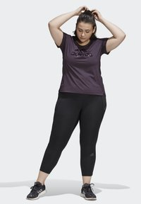 adidas Performance - GLAM ON BADGE OF SPORT LOGO T-SHIRT (PLUS SIZE) - Camiseta estampada - purple - 1