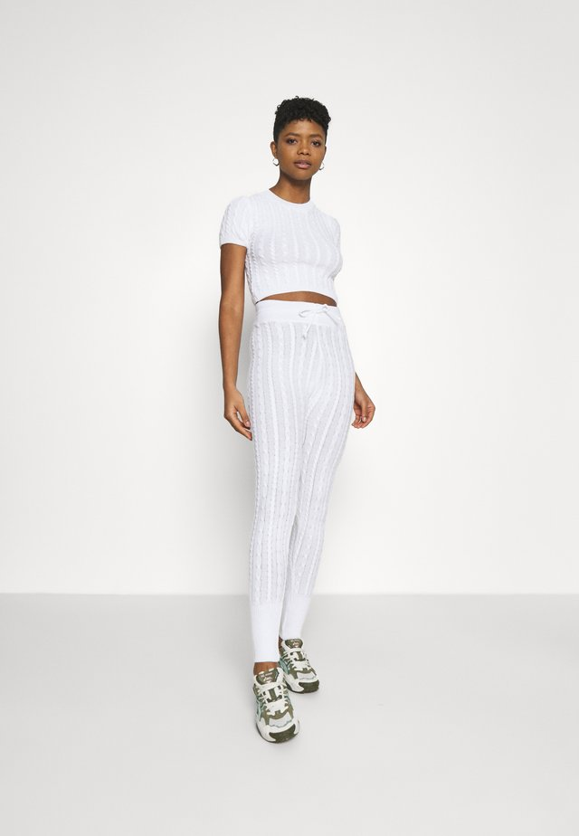 MINI CABLE TOP SET - Jednoduché triko - white