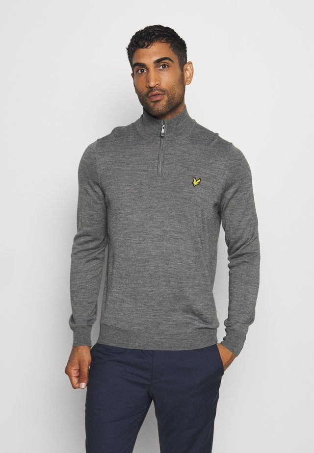 GOLF QUARTER ZIP - Neule - mid grey marl