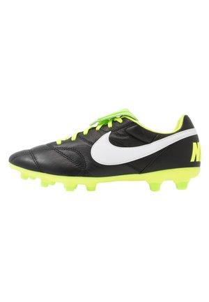 PREMIER - Moulded stud football boots - black/white/volt/electric green