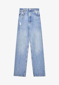 PULL&BEAR - Jeans Straight Leg - mottled blue - 5