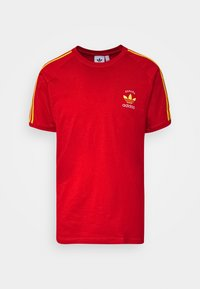 adidas Originals - STRIPES SPORTS INSPIRED SHORT SLEEVE TEE UNISEX - Camiseta estampada - red - 3