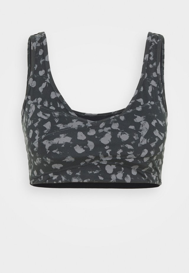 KELLAM BRA - Medium support sports bra - black