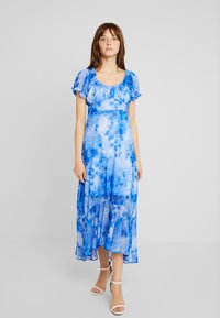 NA-KD - TIE DYE PUFF SLEEVE DRESS - Maxi dress - blue - 2