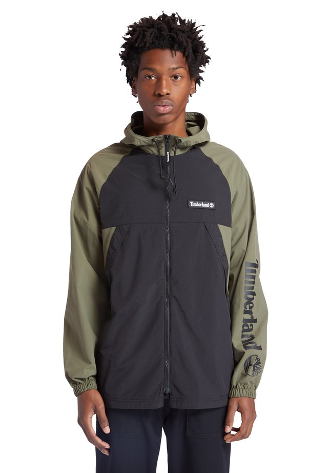 Windbreaker - grape leaf/black