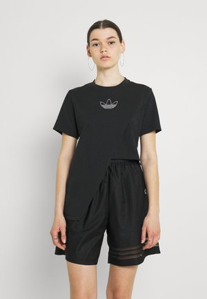 BOXY - Print T-shirt - black