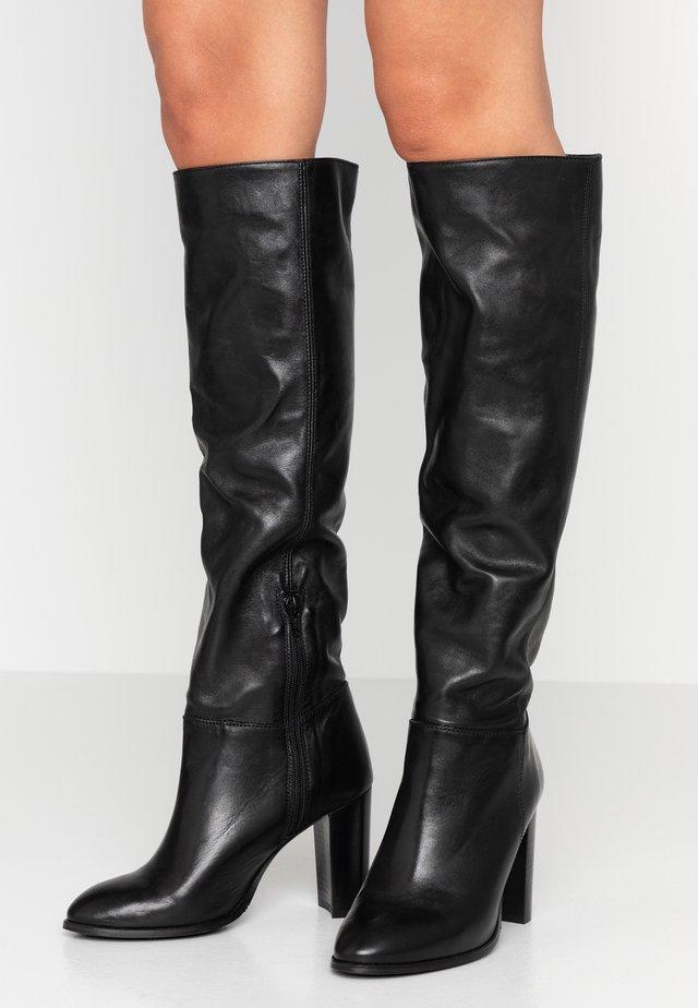 Boots med høye hæler - tequila nero