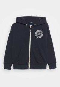 Scotch & Soda - ZIP-THROUGH HOODIE WITH SUBTLE ARTWORK - Zip-up sweatshirt - night - 0