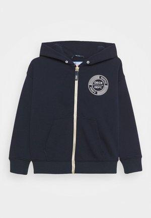 ZIP-THROUGH HOODIE WITH SUBTLE ARTWORK - Zip-up hoodie - night