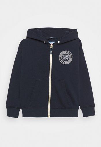 ZIP-THROUGH HOODIE WITH SUBTLE ARTWORK - Zip-up sweatshirt - night