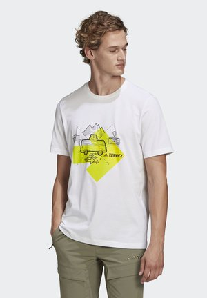 TRAVEL GRAPHIC T-SHIRT - T-shirt imprimé - white