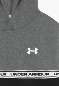 Under Armour - SPORTSTYLE HOODIE - Hoodie - pitch gray/black/white - 3