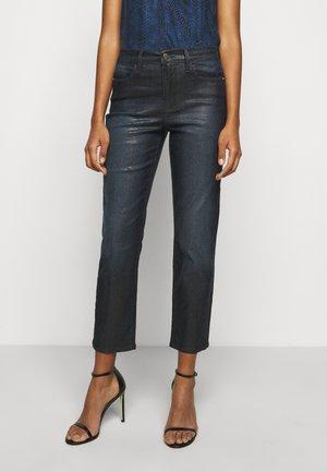 LE HIGH LIZARD COATED - Straight leg jeans - indigo