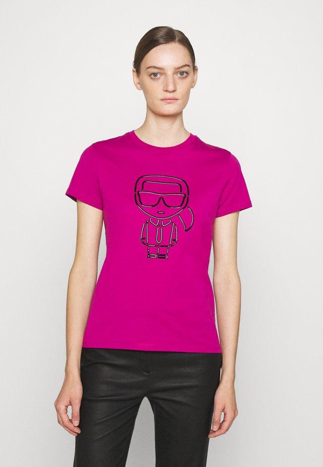 IKONIK OUTLINE - Print T-shirt - fuchsia